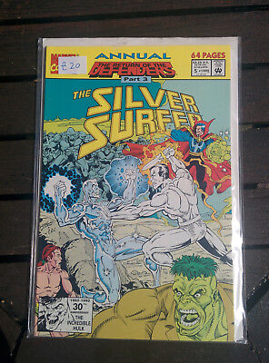 Silver Surfer Annual #5 - Marvel Comics 1992  (64 pages) Return Of The Defenders
