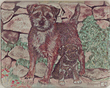 Border Terrier Tempered Glass Cutting Board Heat Resistant  LAST ONE!