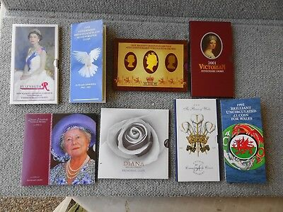 QUEEN ELIZABETH QUEEN MOTHER DIANA UK Royal Mint CROWN COIN Collection £33 FACE