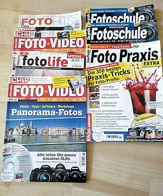 Fotoschule Foto-Video Foto-Hits Foto Praxis 7 Hefte 3cd's Paket digital DSLR