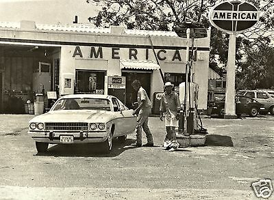 1  5x7 STANDARD OIL GAS SERVICE STATION PLYMOUTH DODGE COCA-COLA PANTS DOWN