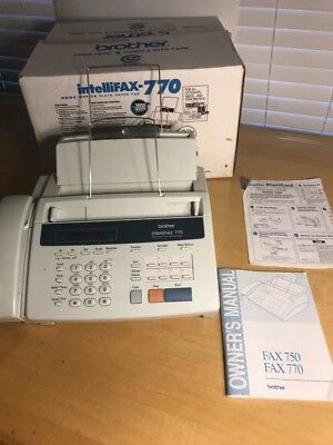 Brother Intellifax 770 Home Office Plain Paper Copy Fax Machine