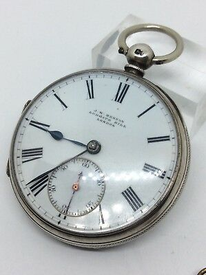 1851 Solid Silver J W Benson Fussee Movement Pocket Watch
