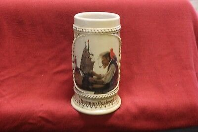 "Collectors's Beer Stein from The Norman Rockwell ""The Captain and First Mate"""