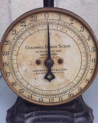 Antique Columbia Family Scale Landers, Frary & Clark 24 Pounds. Pat'D 4/16/1907