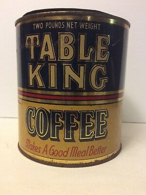Collectible Tins Table King Coffee RUST-PARKER Duluth MN