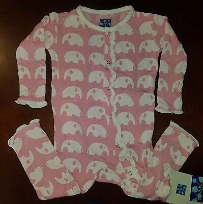 Kickee Pants Lotus Elephant Toddler Girl Coverall 12-18 Months New