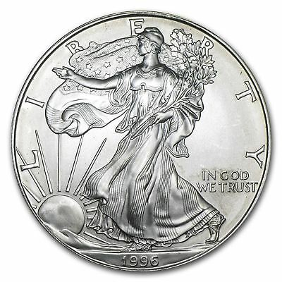 1996 US Mint $1 American Silver Eagle 1 oz Silver Coin Direct From Mint Tube