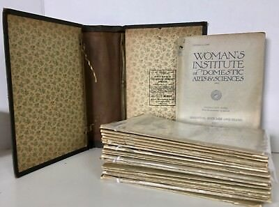 Lot 23 Books Womans Institute Domestic Arts SEWING Dressmaking 1920-21 Antique