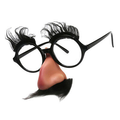 GROUCHO DISGUISE MOUSTACHE GLASSES SPECS FANCY DRESS FUNNY TOY FUNNY NOSE