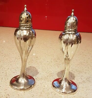 Art Nouveau Silver Salt & Pepper Shakers