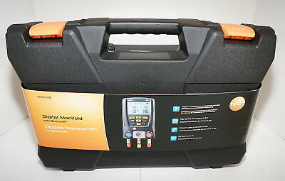 Testo 550 Refrigeration Digital Manifold 0563 1550 W Bluetooth Clamp Probes New