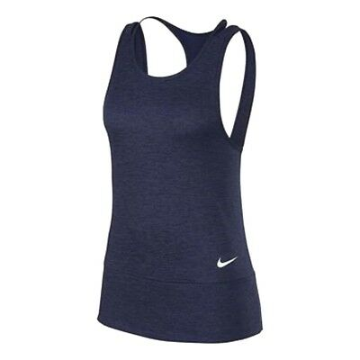 Nike Dry 904460 Women's Open Back Banded Tank Top Gym Training Tennis Yoga