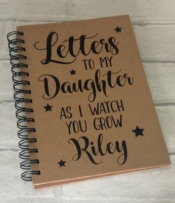 Personalised A5 Kraft Notebook: Letters To My Son Daughter (Baby Gift Journal)
