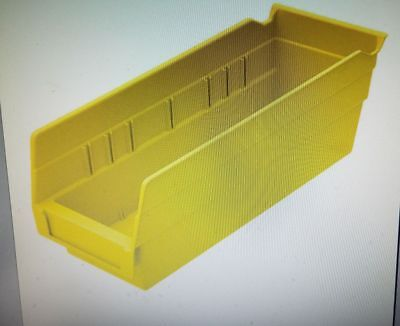 "Akro-Mils Shelf Bin, Yellow, 4""H x 11-5/8""L x 4-1/8""W"