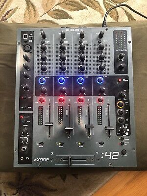 Black Allen & Heath Xone 42 4 Channel DJ Music Mixer