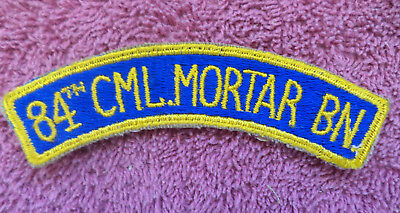 WW2 Patch, 84th Chemical Mortar Battalion, (Cpl. Poma collection), 5 photos
