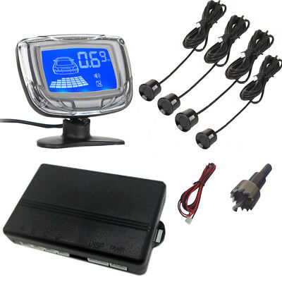New Rear Set Reverse Backup Parking Buzzer Led + Lcd View System 4 Car Alarm
