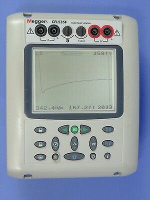 MEGGER CFL535F Time Domain Reflectometer TDR Cable Fault Locator