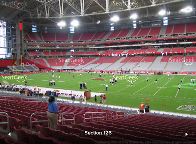 2 Tickets Chicago Bears At Arizona Cardinals 9/23/2018 - 3Rd Row Lowers!!