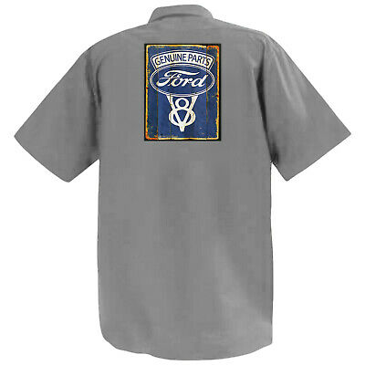 Ford Genuine Parts V8 - Mechanics Graphic Work Shirt  Short Sleeve