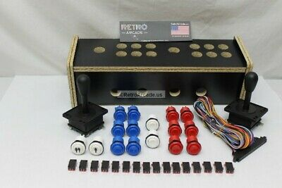 Jamma 1162-IN-1 and Mame, Retro PI, 3 sided Arcade Multigame game control kit