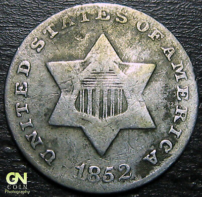 1852 3 Cent Silver Piece  --  MAKE US AN OFFER!  #R3892