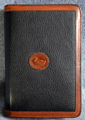 Dooney & Bourke Vintage All Weather Leather Planner-Organizer*Black-British Tan