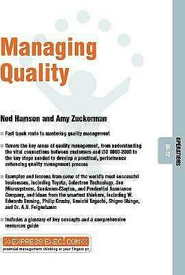 Managing Quality by Ned Hamson, Amy Zuckerman (Paperback, 2002)