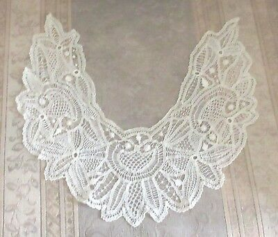 Antique Victorian/Edwardian Lace Collar Set of 3 Cornwall England 1890