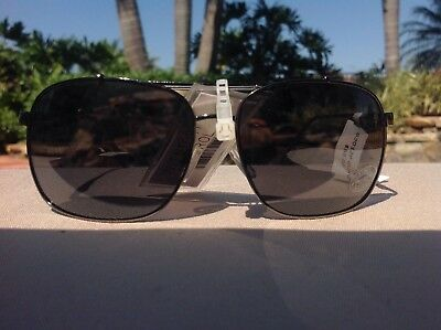 0e8ee42ef1 Steve Madden Mens Sunglasses S3012P Gunmetal White Polarized Retail- 55 Nwt