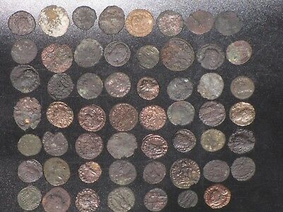 Ancient Roman Coins (cleaned. lot of 55)