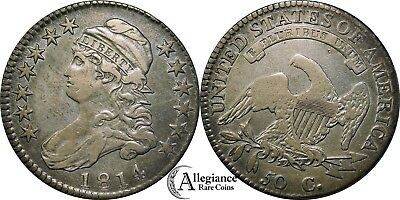 1814 50c Capped Bust Half Dollar E/A Variety VF+ EF XF rare old type coin O-108a