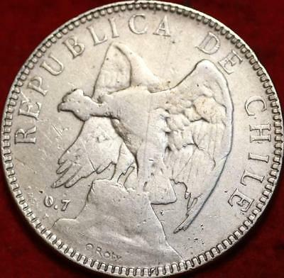 1905 Chile 1 Peso Silver Foreign Coin