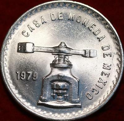 Uncirculated 1979 Mexico Onza Silver Foreign Coin