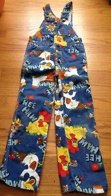 Vintage Hee Haw Child's Overalls TV 1960s Country Kids Toddlers Liberty Size 7