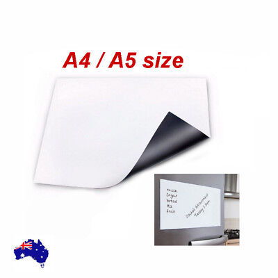 Magnetic Whiteboard Plain Dry Wipe Flexible Memo Notice Fridge Planner  A4/A5