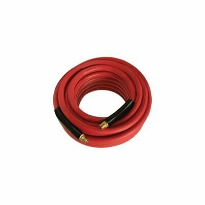 """Mountain 91003998 3/8"""" X 25' 300 Lb. Red Rubber Air Hose 1/4"""" Mxm Coupled"""