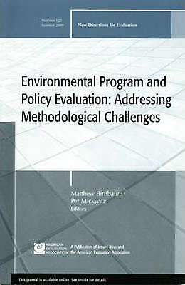 Environmental Program and Policy Evaluation: Summer 2009 by John Wiley and...