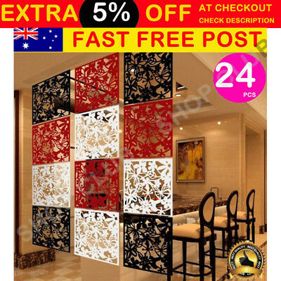 24 Panels Room Divider Screen Folding Hanging Screens Room Personalized Partitio