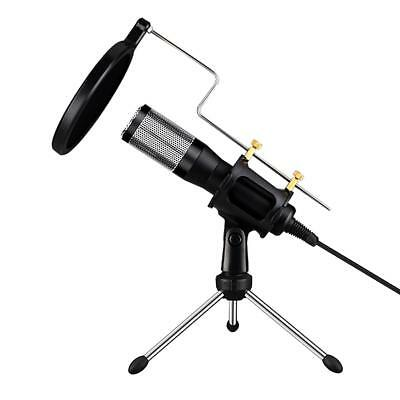 Professional USB Condenser Microphone with Pop Filter&Stand for PC Recording