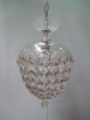 Basket chandelier, cut crystal, vintage, original