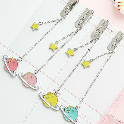 Colorful Star Pendant Bookmark Stationery Metal Paper Clip Kawaii Stationery