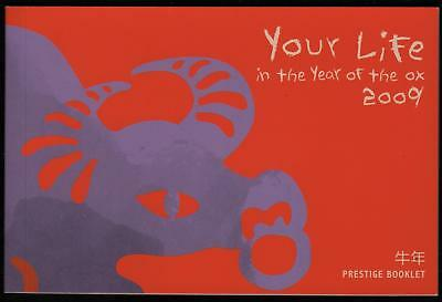 YOUR LIFE in the YEAR of the OX 2009 PRESTIGE BOOKLET AUSTRALIAN STAMPS - MINT