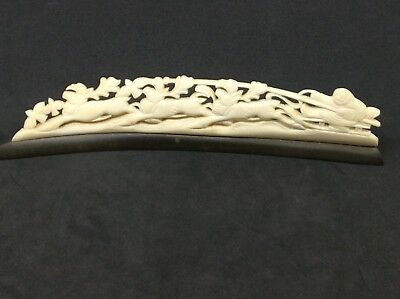 Eskimo Inuit Antique Carving Sled Fisherman Natural Material 6.5 Inch