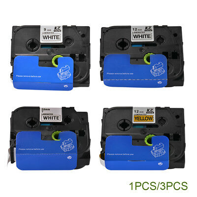 1x/3x 9/12/24mm Cassette Label Tape Cartridge Compatible with Brother P-Touch