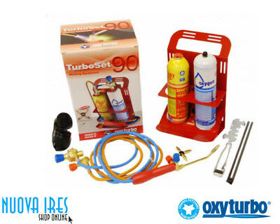 Kit Cannello Top Saldatura Turbo Set 90 Ossigeno Maxy Gas Oxyturbo Garantito