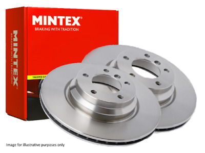 New Mintex - Front- Brake Discs (2X Discs) - Mdc1019 - Free Next Day Delivery