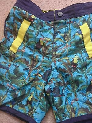 ted baker toddler boys shorts parrot tropical holiday beach age 2-3