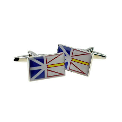 Newfoundland /& Labrador Flag Cufflinks Personalised Engraved Keepsake Box